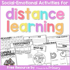 Social-emotional activities will support distance learning at home. Use these ideas to support your SEL lessons online, at home, and in the classroom. Activities For Teens, Counseling Activities, School Counseling, Learning Activities, Social Emotional Activities, Social Emotional Development, Social Skills Lessons, School Social Work, School Psychology