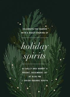 Wild Winter Bouquet by Paperless Post. Send custom online holiday party invitations with our easy-to Holiday Parties, Holiday Cards, Holiday Emails, Holiday Messages, Winter Bouquet, Holiday Party Invitations, Christmas Invitation Card, Birthday Invitations, Wedding Invitations