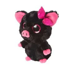 Latest Fashion Jewelry For Girls YooHoo and Friends Black and Pink Plush Pig – Beanie Buddies, Ty Beanie Boos, Ty Animals, Stone Art Painting, Ty Toys, Monkey Girl, Pet Pigs, Craft Accessories, Toy Craft