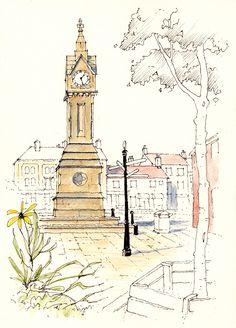 Thirsk in North Yorkshire ~ sketch ~ John Edwards