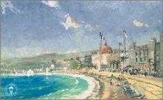 Thomas Kinkade - Beach at Nice