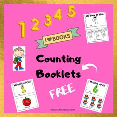 Counting booklets for preschoolers and kindergarten students. Great take home books for them to read to someone at home. Watch them beam when they say they can read a book! It is also a great way for kids to learn their numbers. Read To Someone, Books To Read, My Books, Kindergarten Books, Free Worksheets, Booklet, Counting, Numbers, Preschool