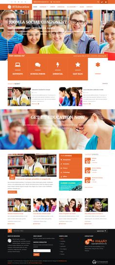 BT Education is one of the best solutions not only education websites but also websites which concentrate on interaction of social networks and communities. on Inspirationde Website Layout, Web Layout, Layout Design, Maquette Site Web, College Website, Kids Sites, Innovation, Joomla Themes, Education Templates