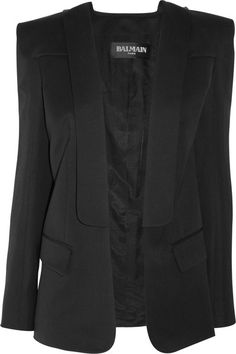 Balmain - Wool and Linenblend Jacket
