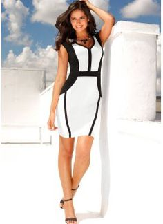 Vestido com corte geométrico Style Désinvolte Chic, My Style, Casual Chic, Ideias Fashion, Bodycon Dress, Dresses For Work, How To Make, Clothes, Classic