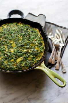 Persian Kuku with Saffron Potatoes and Herbs | @saltandwind |  http://saltandwind.com