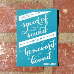 Homeward Bound  Miranda Lambert by jennysimsmakesthings on Etsy, $20.00