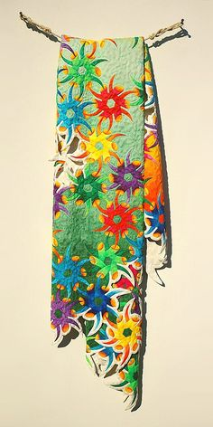 """Fraser Smith - """"Passiflora"""" carved from wood and hand painted with dye or watercolor"""