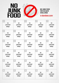 The No Junk Food Challenge by Darebee will transform your nutrition habits. Wake Up Workout, Hiit Workout At Home, Plank Workout, Kickboxing Workout, No Junk Food Challenge, 30 Day Workout Challenge, Health And Fitness Apps, 30 Day Fitness, Bruce Lee Workout