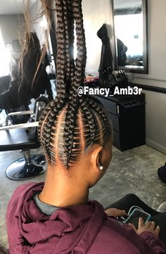 2019 Attractive 8 Feed in Braids Ponytail for Women 2019 Attraktive 8 Feed in Braids Pferdeschwanz f Box Braids Hairstyles, Braided Ponytail Hairstyles, Ponytail Braid Styles, Hairstyles Games, Updo Styles, Hairstyles Pictures, School Hairstyles, Hairstyles 2018, Updo Hairstyle