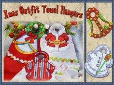 Christmas Outfit Towel Hangers