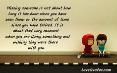 Missing Someone - LoveQuotes.com