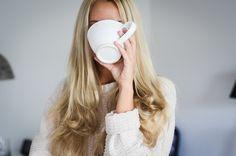 heavy blonde hair