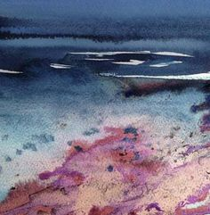 Magenta Sands - by Liz James Watercolour and ink
