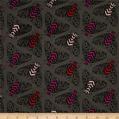Cotton Steel Magic Forest Bees Charcoal from @fabricdotcom  Designed by Sarah Watts for Cotton   Steel, this unbleached cotton print fabric features beautiful bees and is perfect for quilting, apparel and home decor accents. Colors include black, charcoal, red and shades of pink.
