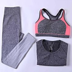 2017 Women Yoga Sets - Bra + Pants + Shirt #yogaset