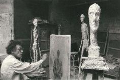 Alberto Giacometti in his Paris studio, 1960