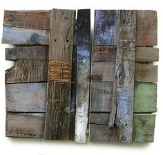 Wood Assemblage by Rumen Dimitrov Found Object Art, Found Art, Wood Sculpture, Wall Sculptures, Wood Mosaic, Pallet Art, Assemblage Art, Wood Wall Art, Abstract Expressionism