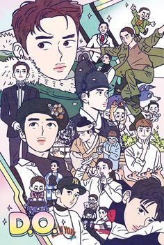2019 KAI birthday illust by langmanpanda on FanBook Kyungsoo, Chanyeol, Cute Lockscreens, Exo Anime, Kai, Exo Fan Art, Kpop Drawings, Fanarts Anime, Kpop Fanart