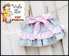 Girl's Skirt Pattern Strip Skirt by ViolaLeePatterns Girls Skirt Patterns, Boys Sewing Patterns, Baby Clothes Patterns, Pdf Patterns, Coat Patterns, Pattern Ideas, Sewing Ideas, Skirt Mini, Twirl Skirt
