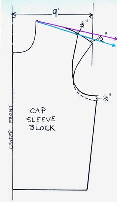 Artsybuildinglady: How To Make a Cap Sleeve T-Shirt Pattern