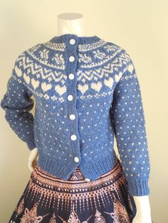 Vintage Vermont Classics Sweater in Fair Isle by stilettoRANCH Sweater Hoodie, Knit Cardigan, Pullover, Fair Isle Knitting, Hand Knitting, Heart Sweater, Hand Knitted Sweaters, Fall Clothes, Vintage Knitting