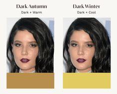 Deep Autumn Color Palette, Deep Winter Colors, Autumn Colours, Dark Autumn, Dark Winter, Deep Autumn Makeup, Colour Combinations Fashion, Seasonal Color Analysis, Colors For Skin Tone