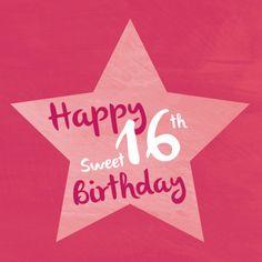 Sweet 16 verjaardagskaart - Verjaardagskaarten - Kaartje2go