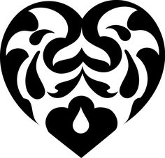 """Abstract Heart Swirls vinyl decal  Sizes available: Small: 6"""" Wide x 5.7""""Tall Medium: 8"""" Widex 7.7"""" Tall Large: 10"""" Widex 9.6"""" Tall  Colors* available: Mat"""