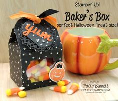 Candy Corn Halloween Treat - Stampin UP! Baker's Box