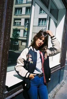 How To Style A Silk Embroided Bomber Jacket