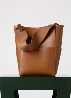 Sangle Seau Bag in Natural Calfskin - Fall / Winter Collection 2015 | CÉLINE