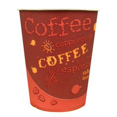 Choice 10 oz. Paper Hot Cup with Coffee Design 50 / Pack Instead of renting coffee cups