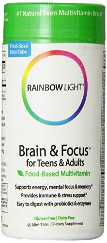 Rainbow Light Brain and Focus Multivitamin,  complete multi with b-complex plus l-theanine and gingko promotes focus and concentration and supports the nervous system.90 Tablets