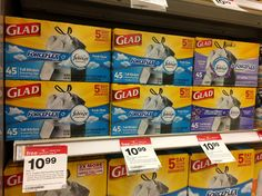 There is a promotion on Glad ForceFlex Trash Bags at Target: buy two and receive a $5.00 Target gift card....