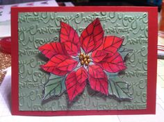 Joyful Christmas Stampin Up Copic makers R59 R39 R27 G24 G45 Papers cherry cobbler wild wasabi Embossing ink with pistachio pudding