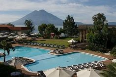 Porta Hotel del Lago in Panajachel, Guatemala Atitlan Guatemala, Lake Atitlan, My Pool, Beautiful Waterfalls, Places, Outdoor Decor, Travel, Mission Trips, Destinations