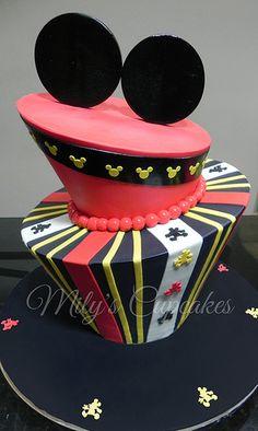 Mickey Ears Topsy Turvy Cake
