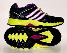 new arrival 62b67 c6de5 Kids Shoes. Adidas Ortholite. Size 3.5. Black White Purple Florescent  Green.