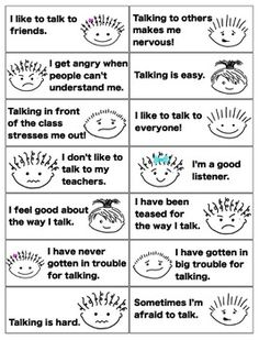 Exploring feelings about speech - for selective mutism and other speech disorders