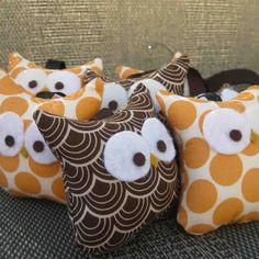 Sew simple, but so cute! #owl #pillow