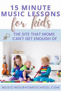 Preschool Music Lessons, Music Activities For Kids, Kindergarten Homeschool Curriculum, Elementary Music Lessons, Music Lesson Plans, Homeschooling, Music Classes For Kids, Music Lessons For Kids, Music For Kids
