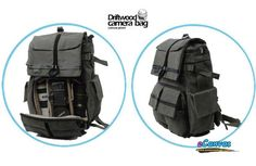 Canvas DSLR backpack with rain cover, slr camera backpack, 12 inch ...