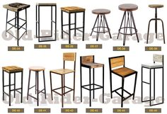 Welded Furniture, Iron Furniture, Steel Furniture, Industrial Kitchen Design, Industrial Design Furniture, Furniture Design, Cafe Shop Design, Wood Bar Stools, Modern Restaurant