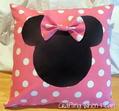 I saw the cutest Minnie Mouse pillow on DisneyStore.com last fall, and knew I could make my own - easily and for less $$$. When I thought a...
