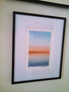 Horizon. Watercolor print by local artist, Nate Barton. 8 x 10