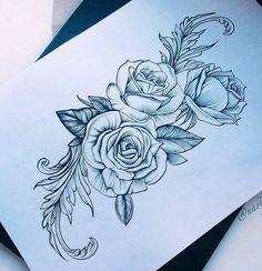 This is pretty 💕 Mom Tattoos, Body Art Tattoos, Tattoo Drawings, Sleeve Tattoos, Graffiti Tattoo, Feminine Thigh Tattoos, Geniale Tattoos, Tattoo Outline, Tattoo Stencils