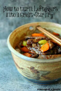 Beef Stir Fry | Cravings of a Lunatic | Super easy to make, just use leftover beef roast for a quick meal!