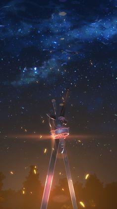 Kirito and asuna's sword anime sword art online sword mobi Film Anime, Manga Anime, Fanarts Anime, Manga Art, Schwertkunst Online, Arte Online, Online Anime, Sword Art Online Asuna, Popular Art