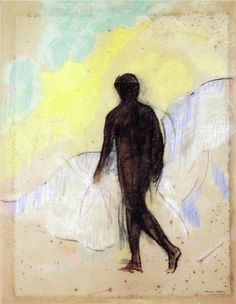 The Man - Odilon Redon The existential condition : one man , alone, walking thru his world.